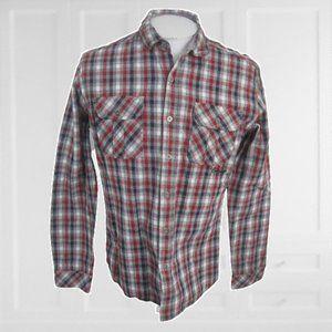 Billabong Men shirt long sleeve slim fit plaid M